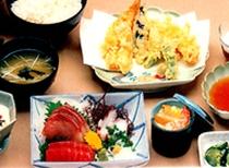 てんぷら・刺身膳 1500円