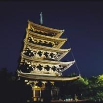興福寺 五重塔ライトアップ