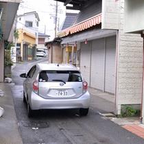 *【道順】車② 道が狭いので、十分にお気をつけください。