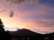 浅間山の夕焼け