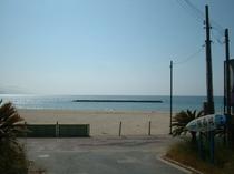 海まで歩いてすぐ