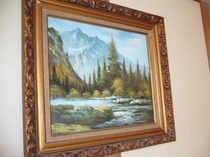廊下の油絵