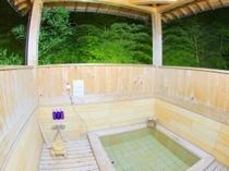 広々桧風呂