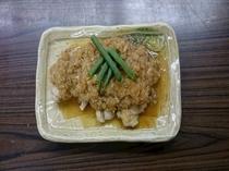 【朝食】日替わりメニュー和食・ブーたれ煮(豚肉)