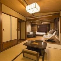 『寝待ち月』は63㎡の広さの客室になります