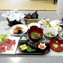 *【夕食一例/贅沢プラン】ししゃも等の炭火焼など、日替わりの旬のお料理を