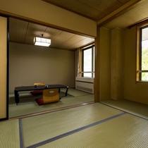 【和室次の間付】二間づ付きの快適な間取り。ご家族2世代での滞在や居室と寝室を分けた連泊などに◎