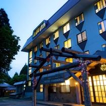 【ホテルハモンドたかみや】雄大な蔵王の自然の中に佇むホテル。源泉かけ流しの温泉と山形の味覚を漫喫