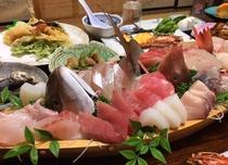 舟盛りプラン天ぷらなど
