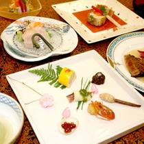 【夕食一例】目と舌でお愉しみいただけるお料理です。