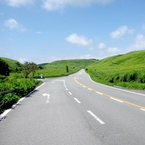 高原の中をドライブ♪