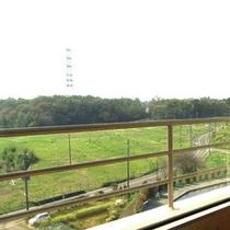 お部屋からの眺め。緑が見渡せます。