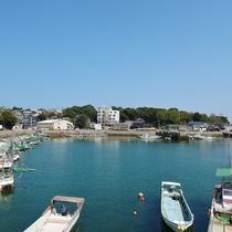 *なんといっても宿の目の前は竹崎かにが揚がる漁港!