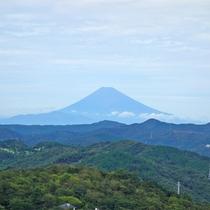 *天気の良い日は大室山・山頂から富士山を臨めます。
