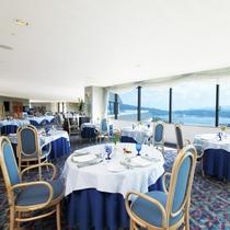 【ホテル最上階 フランス料理レストラン「ブルージュ」】6階より階段にてお越しいただきます。