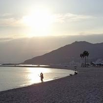 須磨海岸の夕刻
