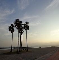 須磨海岸の夕刻2