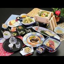 椿-tsubaki- コース一例 リーズナブルなお手軽コース♪新メニューの野菜蒸しと洋皿をお楽しみに
