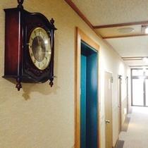 廊下の一部 お部屋番号のお間違えにお気をつけください