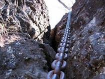 妙義山ハイキング 鎖で岩登り