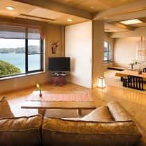 飛島館スイート 専用露天風呂付和洋室/一例
