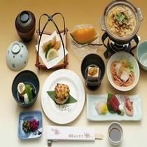 旬の味覚と源泉かけながしの温泉をお楽しみください♪【レストラン食イメージ】
