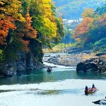 紅葉が美しい荒川をゆっくりライン下り♪