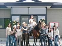 乗馬とサイクリングで巡るツアー!全員集合