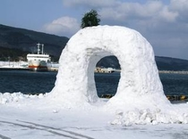 2008冬!突然現れた雪の鍋つる岩