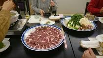 冬のカモ鍋料理1