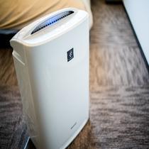 加湿器付空気清浄器:全室完備
