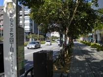 ホテルが位置するおもろまち四丁目付近