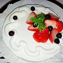 女将の手作りケーキ