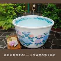 【滝の間・露天風呂】