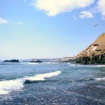 ホテルいずみの散策路の先「ポンアヨロ海岸」