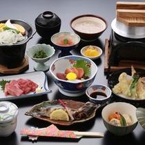 【宍粟会席】自然薯、あまごなど地産地消にこだわったお料理。