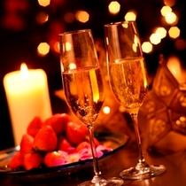 【宿泊プラン】ストロベリーとシャンパン