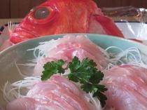 伊東金目鯛のお刺身
