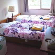 【少し狭い洋室ツイン】少し狭いお部屋のため、お休みになるだけで十分という方にお勧めです。