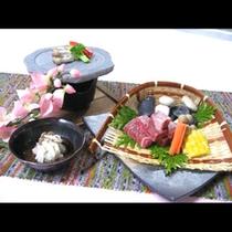 *【東通和牛の石焼(一例)】