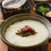 【朝ごはんフェスティバル2014】で九州第四位を獲得した、温泉湯とうふ雑炊♪