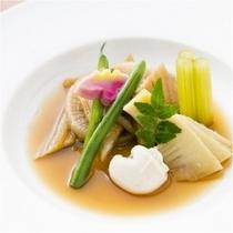 穴子と山菜の煮物pg