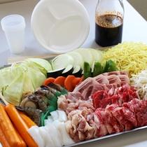 BBQのお肉やお野菜の食材セットもご用意しております。