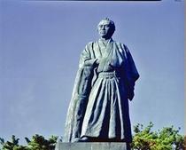 名勝桂浜に建つ坂本龍馬像