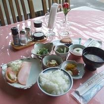 *【朝食例】栄養バランスのとれた朝ごはん♪朝からしっかりいただきます!