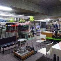 *スキー乾燥室やレンタル用品も各種取り揃えております。