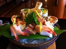 地魚刺身とセイコ蟹