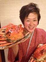 女将と蟹2