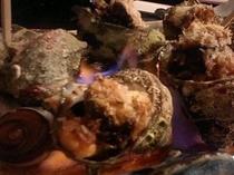 サザエ焼き(エスカルゴバター風の味つけ)
