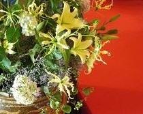 床の間お花